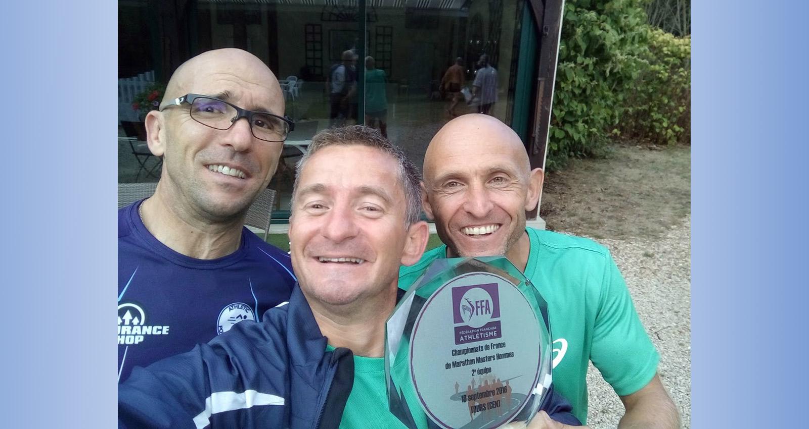 Vice-champions de France de Marathon Master